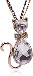 Lovely Cat Animal Pendants,Made with Austria Swarovski Elements Crystal Long Necklace's,31