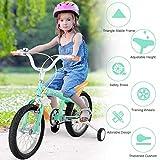 Costzon Kids Bike, 16 inch Wheels, Bicycle with Training...