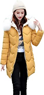 Kekebest Women's Warm Coat,Section Block Solid Color Large Size Zipper Pocket Cotton Wool Winter Hooded Thick 2019 Sale