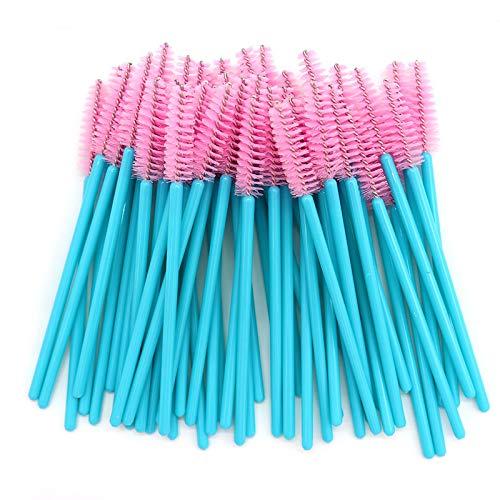 Mascara Wands, 300 Pack Disposable Lash Brushes for Eyelash Extensions Makeup Brush Bulk Tool Set, Blue/Pink
