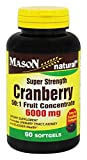 Mason Vitamins Cranberry Super Strength 50:1 Fruit Concentrate 6000mg Softgels, 60 Count