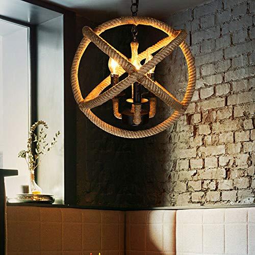 Lámpara de araña de estilo industrial, creativa, restaurante, bar, cafetería, hierro forjado, personalidad, Bed & Breakfast cuerda decorativa