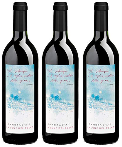 Bio Wein Rotwein Trocken Barbera Piemonte Italien 2016 Vegan Histaminarm (3 x 0.75l)
