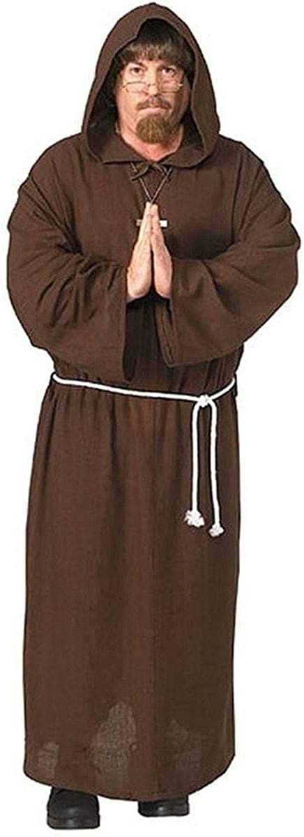 Adult Friar San Long Beach Mall Francisco Mall Tuck Deluxe Hooded Mens X-Large Costume Robe Monk
