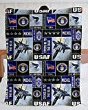 Personalized Blanket - Custom Name Air Force Insignia Rank United States Blanket, Chief Master Sergeant of The Air Force CMSAF Blanket, US Air Force Blanket, Veteran's Day, Birthday Gift