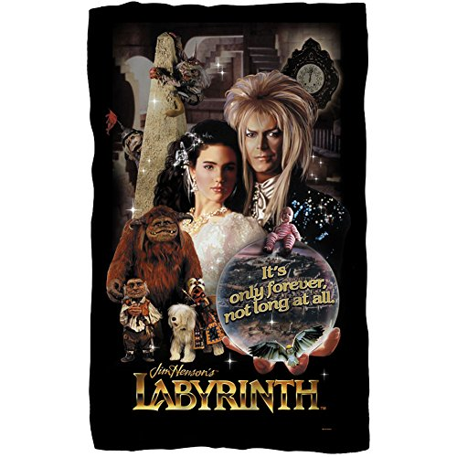 Labyrinth, Only Forever, Fleece Throw Blanket (36'x58')