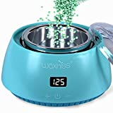Wax Warmer, Portable Electric Hot Wax Warmer for Hair Removal with See-Through Cover-Teal Green Color