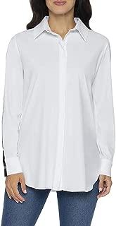 Lysse Women's Stripe Shoulder Buttondown Shirts