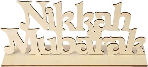 cici store Decoração de madeira muçulmana islâmica Eid Mubarak, placa de mesa de festa, presente (2#)