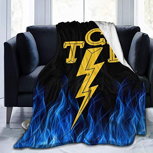 Elvis-The King of Rock 'n'roll TCB Throw Blanket Suitable Ultra Soft Micro Fleece Weighted Blanket Cartoon Smooth Soft Print Blanket Kid Baby For Sofa Chair Bed Office Travelling Camping Multi-Size