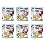 Nutribén - Papillas Desayuno Copos de Trigo y Frutas, Desde los 12 meses, Pack de 6 x 750 gr.