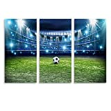 SDFGSD Póster de fútbol con foco de fútbol y lienzo para pared, diseño moderno de campo de fútbol
