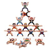 presentimer Stacking Toys, Wooden Stacking Games, Hercules Acrobatic Toys Balancing Blocks Games Toddler Educational Toys for Kids Adults
