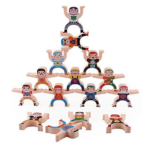 presentimer Juguetes apilables, Juegos de apilamiento de Madera, Juguetes acrobáticos Hércules Juegos de Bloques de Equilibrio Juguetes educativos para niños pequeños para Adultos