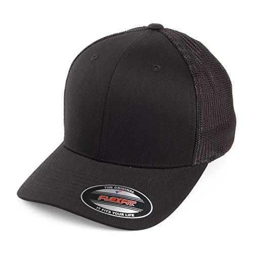 Village Hats Casquette Trucker Tonal Noir Flexfit - Taille Unique