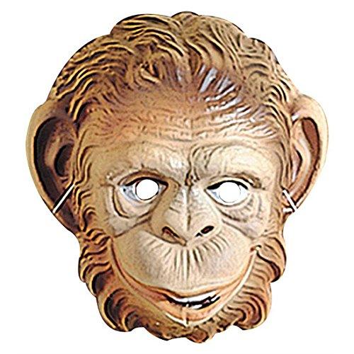 NET TOYS Maschera da Scimmia per Bambino Marrone Travestimento da scimmietta Camuffamento da Animale - Bambino, Misura Unica