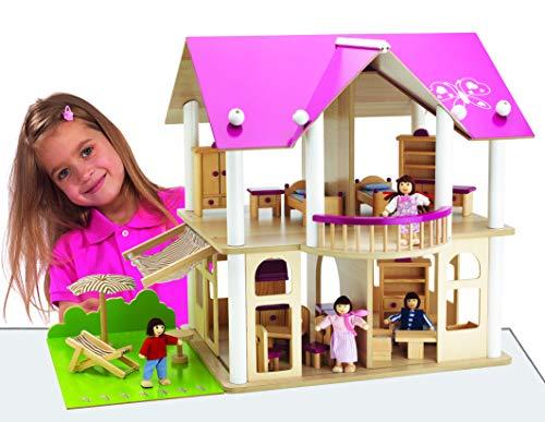 Villa Eichhorn Holz Puppenhaus