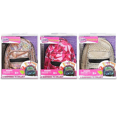 Real Littles - Micro Backpack - 3 Pack with 18 Stationary Surprises Inside! - Styles May Vary