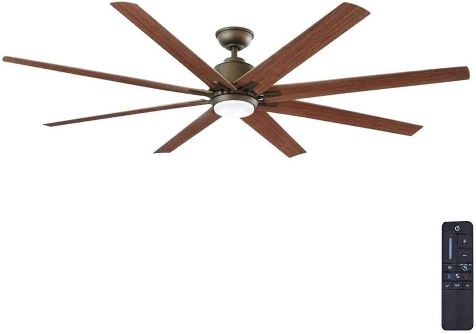 Home Decorators Collection Kensgrove 72 in. LED Indoor/Outdoor Espresso Bronze Ceiling Fan YG493OD-EB (Renewed)
