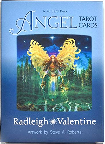 Thrivinger 78 Sheets Angel Tarot Card Box with Color Box, Universal Vintage Divination Future Game...
