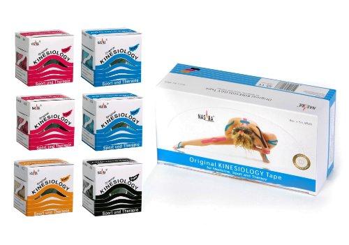Nasara Original Kinesiology Tape M90500, 6er Box, versch. Farben