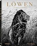 Löwen - Die fotografische Suche nach dem König der Tiere, eindrucksvoll eingefangen in Schwarz-Weiß-Fotografien (Texte auf Deutsch, Englisch und Französisch) - 21 x 29,7 cm, 192 Seiten