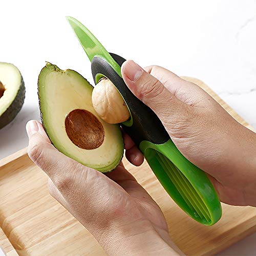 GJWYEYEYE Multifunktionale Avocado Scheiben Obst Cutter Zellstoffabscheider Shea Corer Peeler Kunststoff Obst-Messer-Küche Gemüse-Werkzeuge