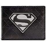 Cartera de DC Comics Superman símbolo de la insignia Negro