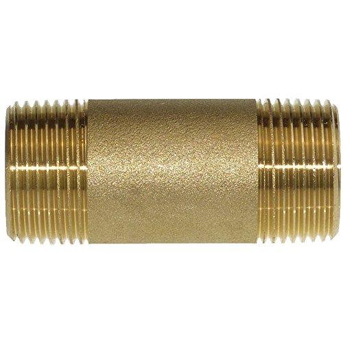 Messing Rohrnippel 1 Zoll x 50 mm