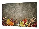 Gigante Tabla para picar de cristal templado o cubre vitro – Salvaencimera – Resistente a golpes y arañazos – UNA PIEZA (80 x 52 cm) o DOS PIEZAS (40 x 52 cm) Serie de Especias DD03B
