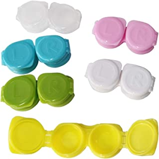 15-Pack Flip-Top Contact Lens Tight Lid Case Holder Storage Box Container Assorted Colors