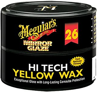 Meguiar's M2611 Mirror Glaze Hi-Tech Yellow Wax, 11 Ounce Paste