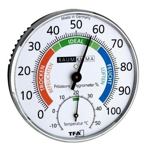 Wetterladen Hygromètre de Précision Test climatique chrome,Argent,100 x 26 mm