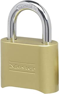 Master Lock 175D Locker Lock Set Your Own Combination Padlock, 1 Pack, Brass Finish