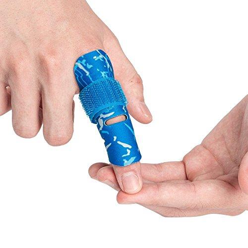 Kuangmi Finger Sleeve Unterstutzung Protector und Verletzungen beim Sport 1 Stuck,Blue S/M