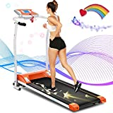 ANCHEER Folding Treadmill,12 Preset Programs, Treadmills with LCD Monitor Motorized, New Levels Indoor Walking Jogging Running Exercise Machine Trainer for Home GymOffice Workout