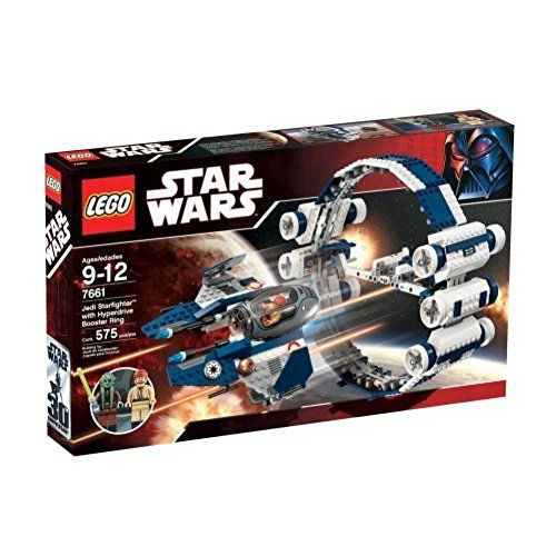 Star Wars LEGO Set #7661 Jedi Starfighter with Hyperdrive Booster Ring