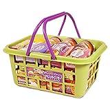 Spielzeug Einkaufskorb Korb Tragekorb Lebensmittel Dosen und Schachteln für Kaufladen Spielzeugladen Einkaufsladen Kaufmannsladen Kinderküche Spielküche Zubehör Set Kinder Lernspielzeug Rollenspiel