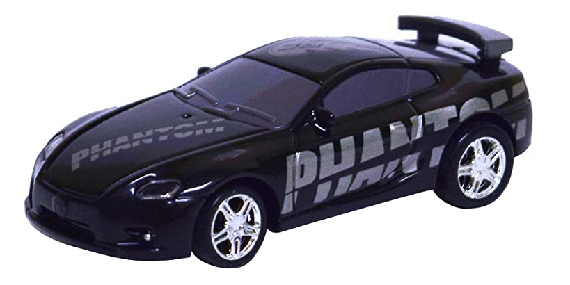 As Seen On TV RC Pocket Racers Remote Controlled Micro Race Cars Vehicle, Phantom Black