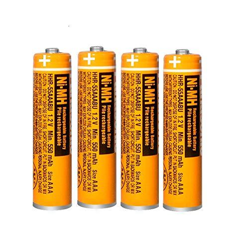 Micro AAA Akku 1.2v 550mah NI-MH Akku batterien für Panasonic,Wiederaufladbare Batterien geeignet für schnurlose Telefone,4er Pack