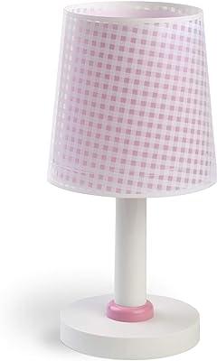 Dalber - Lampada da tavolo E-14, Rosa, Multicolore, 15 x 15 x 30