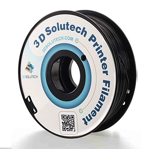 3D Solutech Real Black 3D Printer PLA Filament 1.75MM Filament, Dimensional Accuracy +/- 0.03 mm, 2.2 LBS (1.0KG) - PLA175RBLK