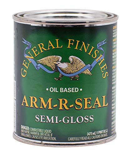 General Finishes Arm-R-Seal Oil Based Topcoat, 1 Pint, Semi-Gloss -  SGPT