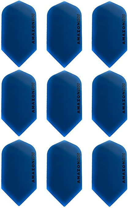 3 x SETS AMAZON DARTS FLIGHTS SLIM BLUE