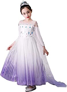 Tsyllyp Girls Fancy Inspired Princess Snow Queen Act 2 Costumes Birthday Party Dress Up