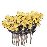 Homoyoyo 10 Unids Flor de Rosa Artificial Plástico a Granel Tallo Largo Rosa de Un Tallo Flores Falsas Ramo de Boda Nupcial Flor Realista Flora para La Fiesta del Jardín en Casa