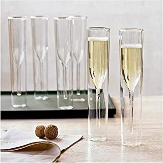 Iris Design Stylish Beer Mug Champagne Glass Double Wall Glasses Flutes Goblet Bubble Wine Tulip Cocktail Wedding Party Cu...