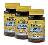 Aceite de hígado de bacalao 1000 mg. 30 perlas. (Pack 3 unid.)