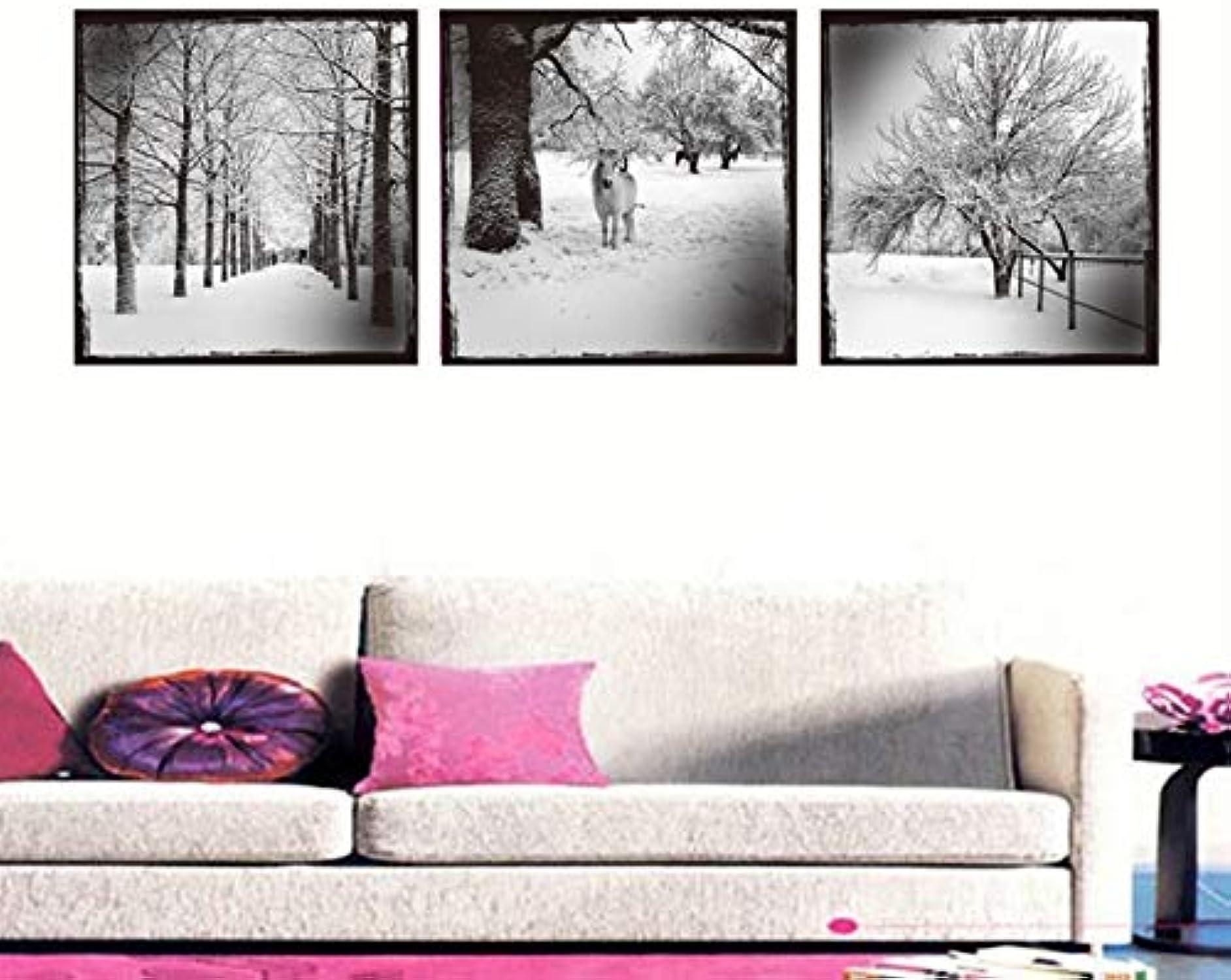 mejor servicio LKHJ Tres Pinturas20X20 Pulgadas 3 3 3 Impresiones De Pinturas De Lienzo De Paisaje Arte De La Parojo Imágenes De Pintura para Sala De Estar Decorativa  artículos de promoción
