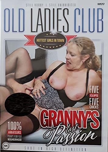 Sex DVD NEW PRODUCTION 2021 Granny's last passion OLD LADIES CLUB olc012